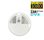 Smoke Detector Night Vision Hidden Camera DVR HD 1080P Up to 128GB - AC Powered
