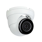 white turret security camera