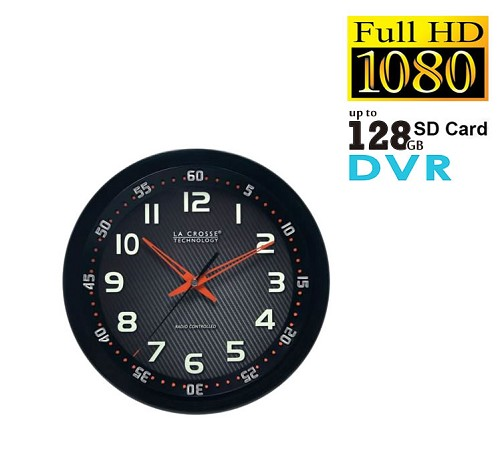secure shot spy camera dvr wall clock